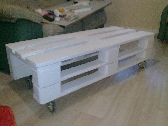 Bases de madera para grandes maquinas for Reciclar palets de madera paso a paso